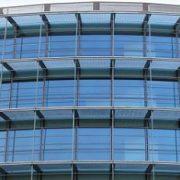 نمای کرتین وال شیشه ای آلوم سازه