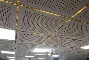 سازه طلایی سقف کاذب مشبک آلوم سازه