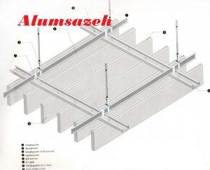 دیتیل فنی سقف لوور